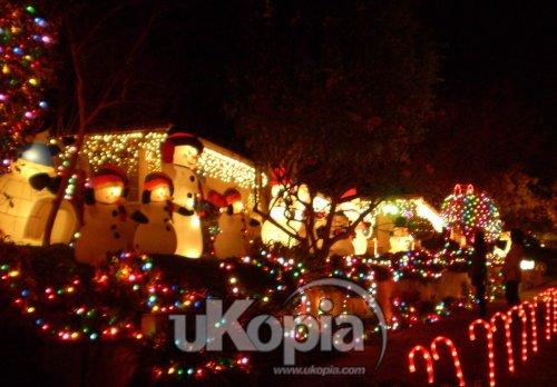 미국 LA : 성탄장식으로 소문난 LA 일원의 '명성의 거리'