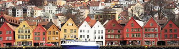 항구도시 베르겐에 남아 있는 독일 상인들의 거주지 브리겐. 유네스코 지정 세계문화유산이다.