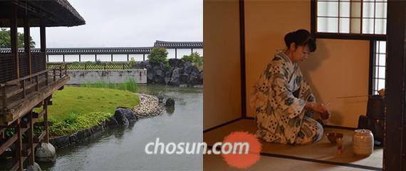 오차노사토 박물관의 정원에서 자연과 함께 녹차를 즐길 수 있다