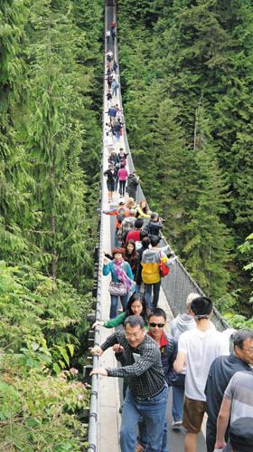 밴쿠버 인근 카필라노 협곡의 흔들다리(Suspension).