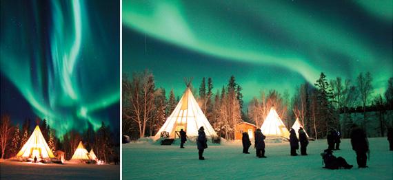 캐나다 옐로나이프는 NASA가 선정한 세계에서 가장 오로라가 활발한 지역으로 연 240회 이상 오로라를 볼 수 있는 곳이다.
