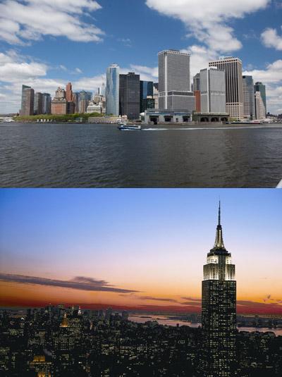 로어 맨해튼, 황혼 무렵의 엠파이어 스테이트 빌딩