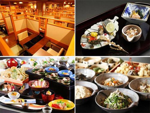 가덴쇼에서 제공하는 가이세키요리. 교토의 전통음식도 함께 맛볼 수 있다.