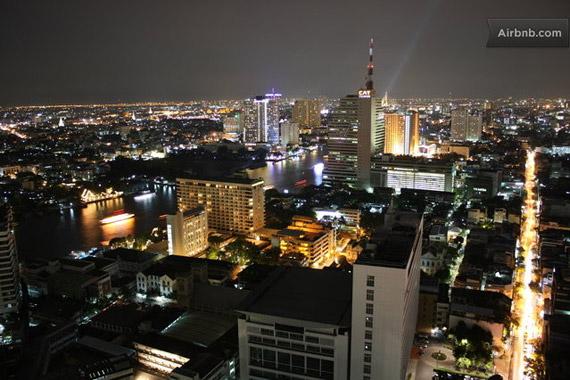 태국 실롬(Silom)의 야경
