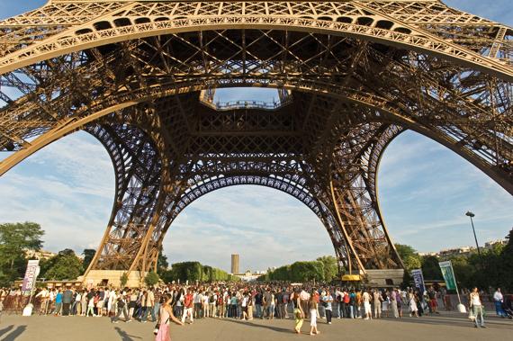 에펠탑 하부