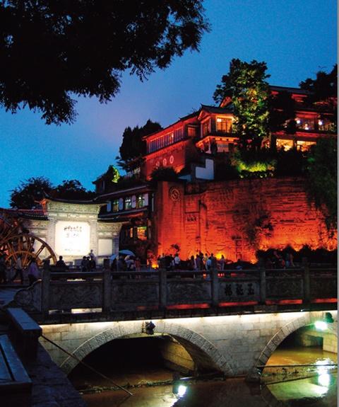윈난성 리장고성의 모습.