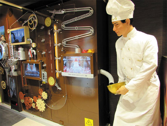 융프라우요흐에 들어선 린트 초콜릿 공방 겸 매장.