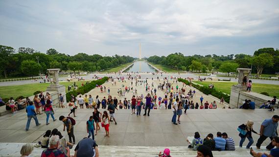 링컨 기념관에서 바라본 내셔널 몰