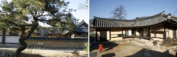 [왼쪽/오른쪽]조견당 가옥 전경 / 우구정 가옥 전경