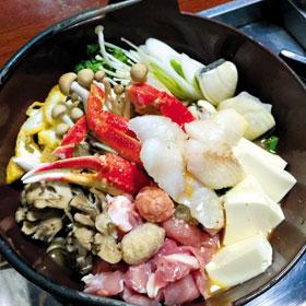 일본에서 맛보는 '창코 나베'.