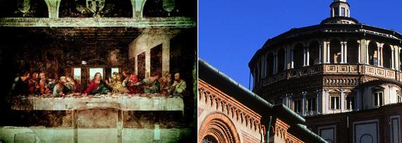 레오나르도 다빈치 '최후의 만찬'/산타마리아 델레 그라치에 성당