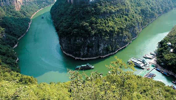 양쯔강 소삼협의 모습.