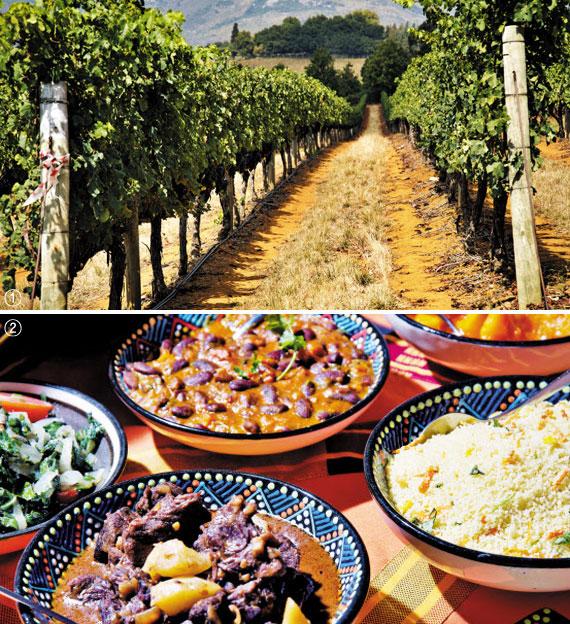 ① 자연농원 바빌론스토렌 ② 골드의 아프리카 요리. '맛의 사파리'다.