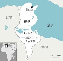 튀니지 지도