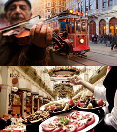 (위부터) 탁심 광장 / 터키 음식