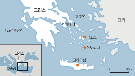 그리스 지도