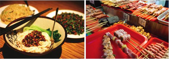 사천식 비빔국수, 야사장 길거리 음식